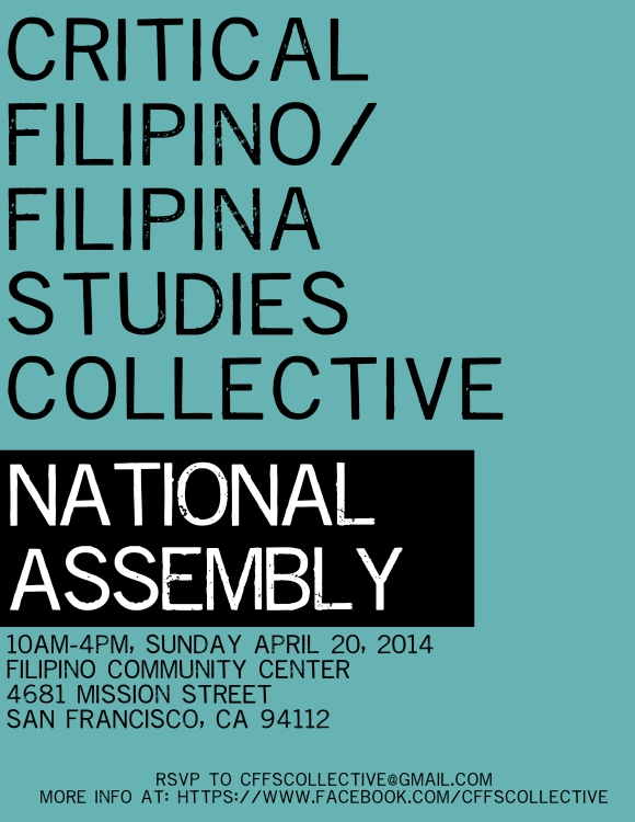 Critical Filipino/Filipina Studies Collective in SF!